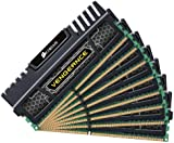 Corsair CMZ64GX3M8A1600C9 Vengeance 64 GB (8 x 8 GB) DDR3 1600 Mhz C9 XMP Performance Memory Kit - Black