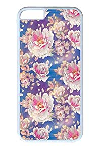 iPhone 6 Case, Personalized Unique Design Protect Covers for iPhone 6 PC White Edge Case - Classical Flower