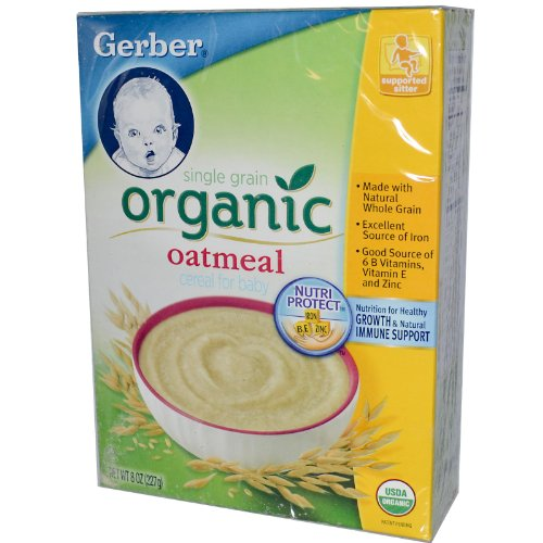 Gerber Organic Baby Cereal - Oatmeal - 8 oz