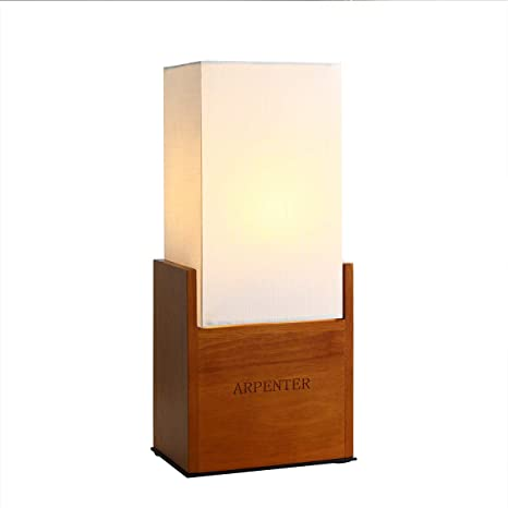 Wood Bedside Table Lamps for Bedroom, Modern Desk Lamp, 15 ...