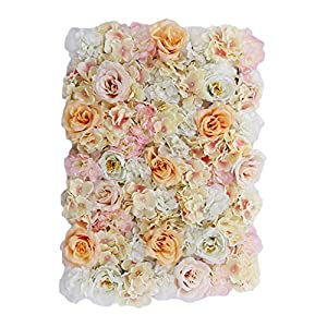 Artificial Flower Wall Screen Panel Romantic Floral Backdrop 60x40cm Trellis Privacy Hedge Wedding Photo Photography Background 49