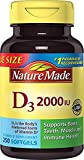 Nature Made Vitamin D3 2000 IU, Value Size 1 Pack .250 Softgels Ks3SA Nature-Ta