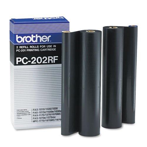 (Brother - PC202RF Thermal Transfer Refill Rolls, Black, 2/Pack PC-202RF (DMi PK)