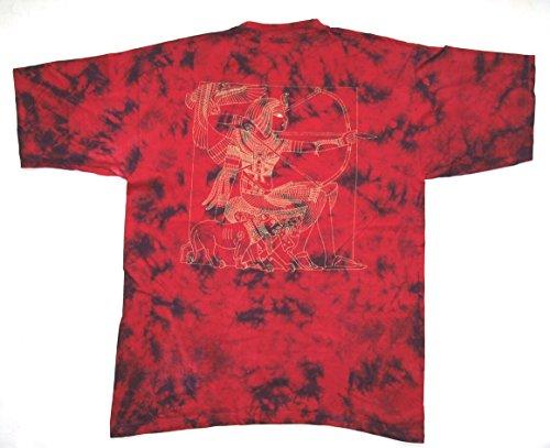 GANJA WEAR T-Shirt Nr. 8 Batik beidseitig Siebdruck Baumwolle Größe XXL Original 1990er Jahre Acid LSD