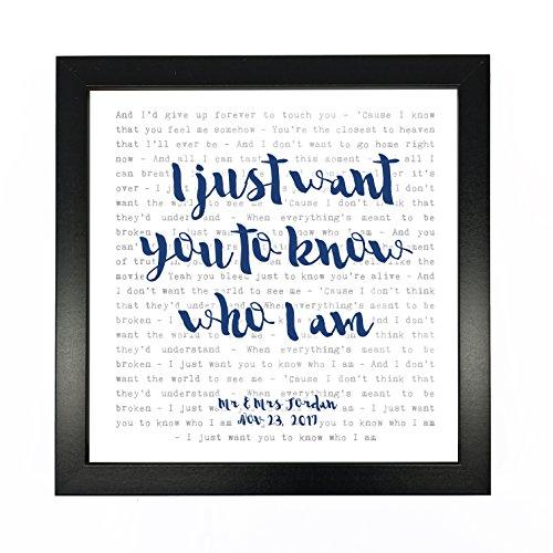 Goo Goo Dolls, Iris Song Lyrics Print Framed & Personalised - Anniversary Valentine's Wedding Gift perfect for him, her, couple - fully framed