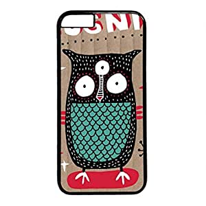 iCustomonline Creative Graffiti Hand-Painted Posters The Owl Designs Protective Hard Case for iPhone 6 Plus (5.5 inch) Black