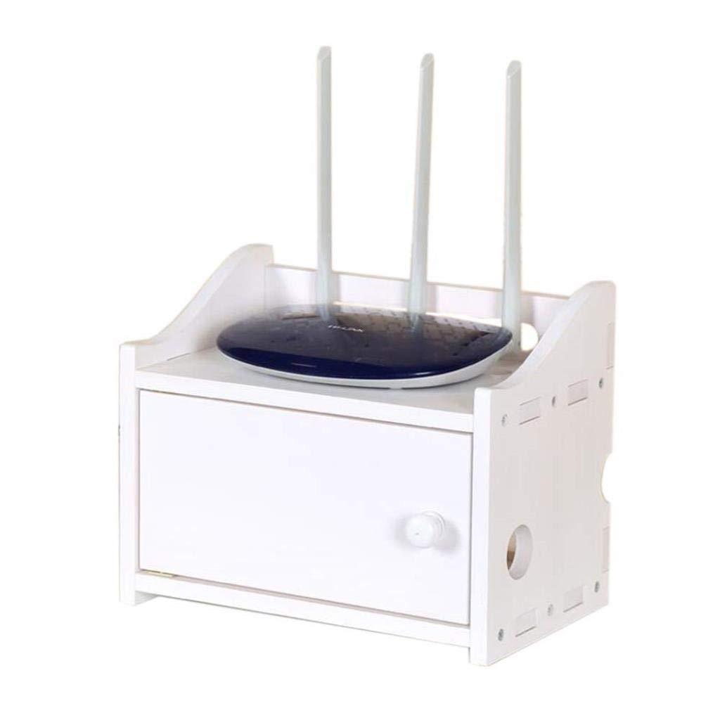 RMJAI Creative Set-top Box Multi-Layer Cable Organizer Box Wood WiFi Router Shelf Player Storage Rack by RMJAI