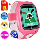 [SIM Card Included] Kids Smart Watch Phone for Girls Boys with GPS Locator Pedometer Fitness Tracker Touch Camera Games Flashlight Anti Lost Alarm Clock Christmas Holiday Birthday Gifts