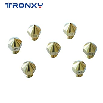 14 boquillas extrusoras MK8 para impresora 3D TRONXY XY-2/XY-3 7 ...