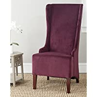 Safavieh Mercer Collection Becall Dining Chair, Bordeaux