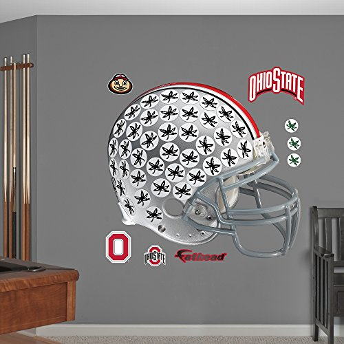 NCAA Ohio State Buckeyes Leaf Helmet Fathead Real Big Decals, 55