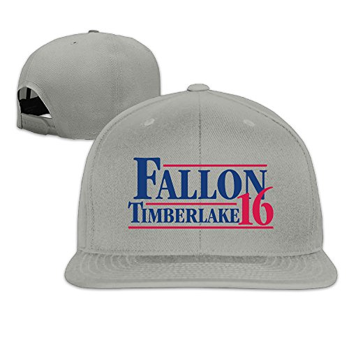 Basee Fallon Timberlake 2016 President Poster Adjustable Flat Along Baseball Cap Ash