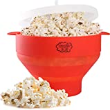 Popcorn Popper - Microwaveable - Collapsible and Compact Silicone Bowl - Dishwasher Safe - No Oil Needed - BPA Free - Cool Touch Handles - by Utopia Kitchen