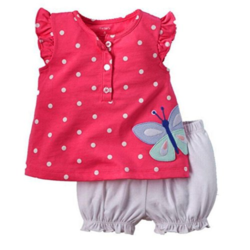 Ecosin Toddler Printed T Shirt Bloomers