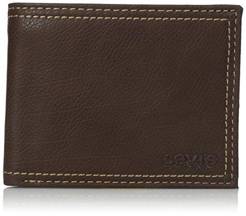 Levi's  Men's  Traveler Wallet,Brown with Zipper