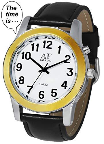 (2nd Generation Talking Watch - 2-Tone Alarm Day-Date Men Watch (ACT-TK34-A358G-01)(M106))