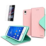 Cellto Sony Xperia Z3 Premium Wallet Case with HD Screen Protector [Dual Magnetic Flap] Diary Cover /w ID Pocket ( Cotton Candy ) + Life Time Warranty