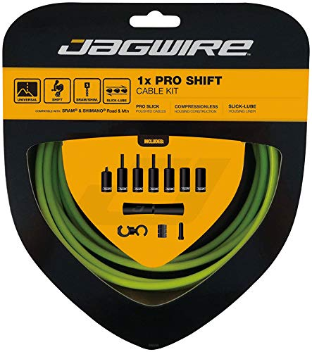 Jagwire 1x Pro Shift Kit Road/Mountain SRAM/Shimano 4mm (Organic Green) by Jagwire