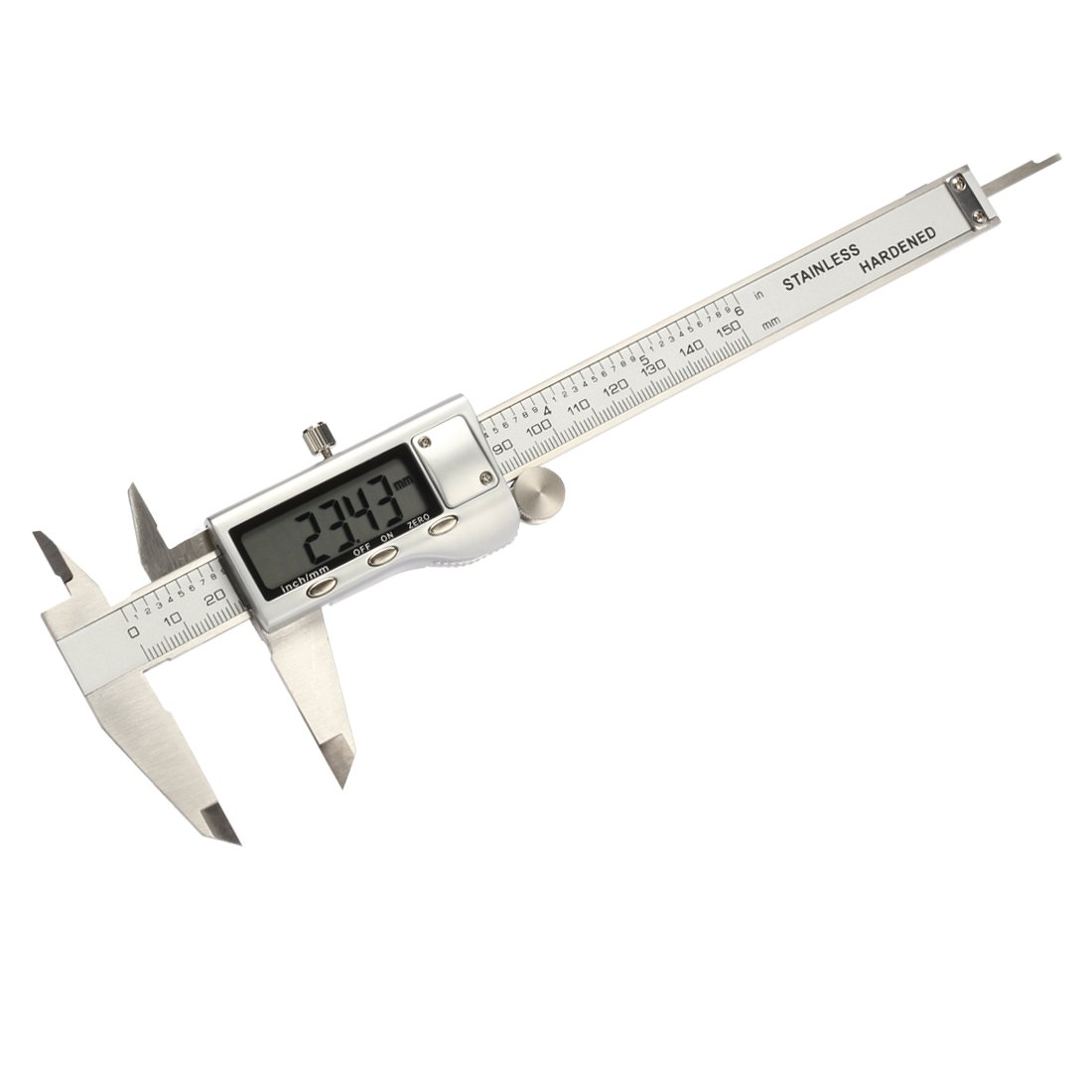 Incutex vernier caliper analogue with locking screw precision caliper micrometer measuring tool 0-150mm stainless 0.05 mm 1-128inch