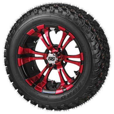 14-vampire-red-black-aluminum-wheels-and-23x10-14-all-terrain-golf-cart-tires-combo-set-of-4