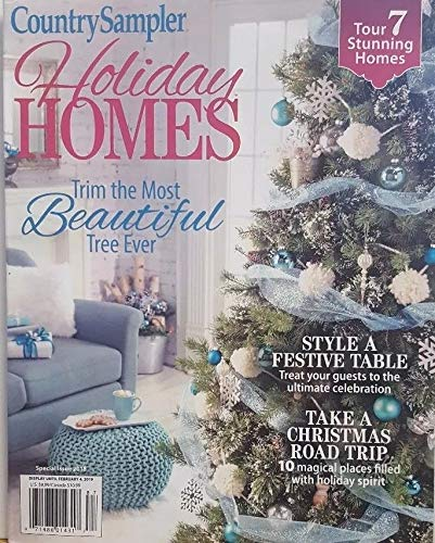 Country Sampler Magazine Holiday Homes Special 2018 Style Festive Table -