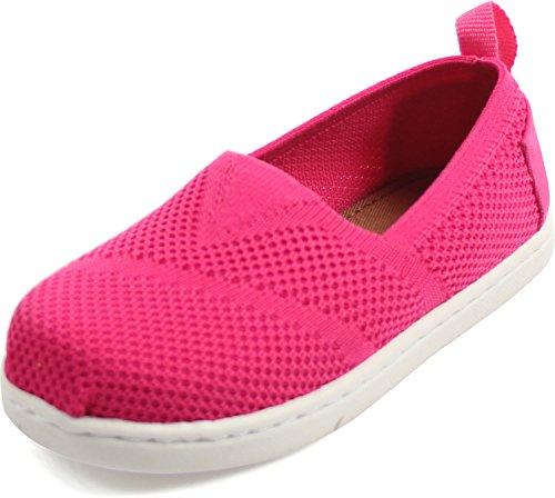 TOMS Girls' 10009936 Fuchsia Alpargata-K, Pink, 10 M US Toddler -
