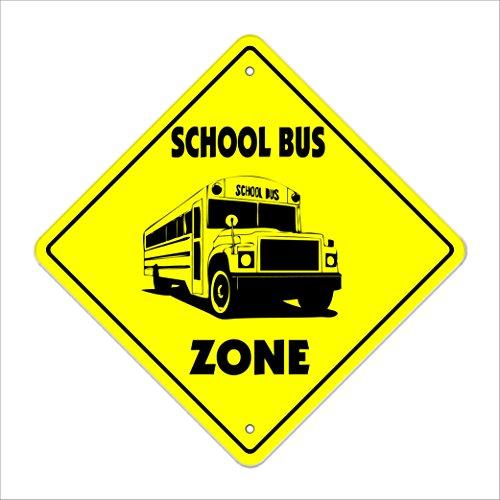 School Bus Crossing Sign Zone Xing | Indoor/Outdoor | 12