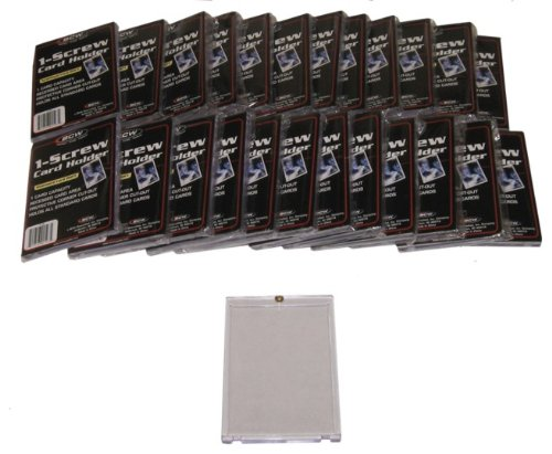 (25 BCW Brand 1-Screw Down Trading Card Holder / Box - 20 Pt. Thick - BCW-1S - Protect Your Valuable Sports and Gaming Cards!)