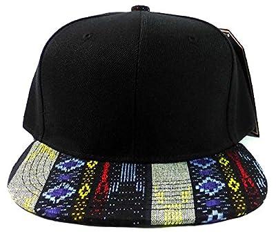 Karmas Canvas Fashion Blank Aztec Snapback Caps - Native Pattern Brim from Karmas Canvas