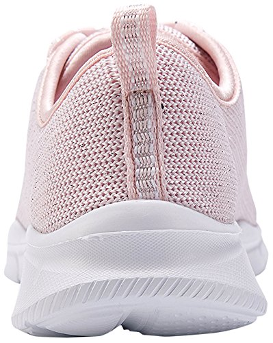 Lanbaosi Running Lightweight Sneakers Womens Fashion Shoes Casual Pink Sports Mesh vqvtgr