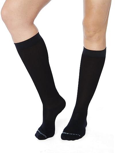 18bd9e7a6e Tommie Copper Women's Core Compression MicroModal Over The Calf Socks,  Black, 4-6.5