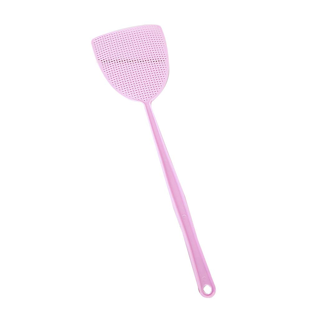 Miaomiaogo Home Kitchen Soft Manual Plastic Long Handle Fly Swatter Mosquito Insects Bugs Pest Swatter
