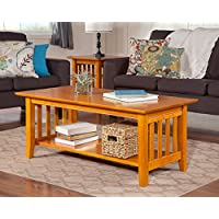 Atlantic Furniture AH15207 Mission Coffee Table Rubberwood, Caramel Latte