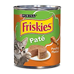Satisfy your cat's craving for savory poultry flavor with Purina Friskies Classic Pate Poultry Platter wet cat food. The mouthwatering assortment of flavors delights her taste buds with every savory bite, giving her more of the tastes she loves the b...