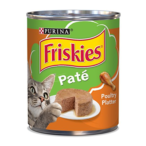 Purina Friskies Pate Wet Cat Food, Poultry Platter – (12) 13 oz. Cans