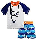 iXtreme Baby Snorkeling Rash Guard Set, Navy, 12 Months