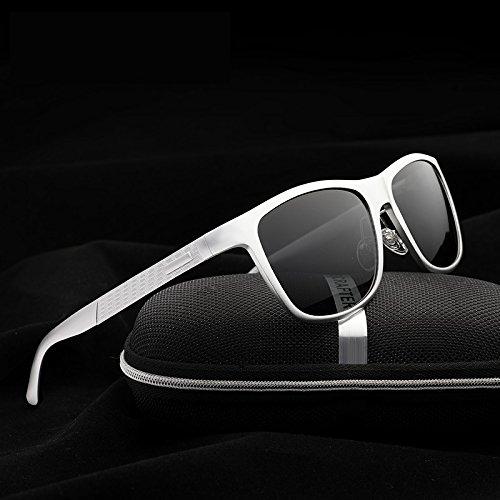 Hombres de Aluminio Hombre Gafas UV400 Gafas de Sol de White Homme polarizado Shopping diseñador Marca Gafas Soleil de cuadradas Color la Go Easy de Sol Black Lunette OwqPYv0C