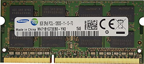 Samsung original 8GB (1 x 8GB) 204-pin SODIMM, DDR3 PC3L-12800, 1600MHz ram memory module for laptops (M471B1G73EB0-YK0)