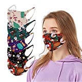5PC Christmas Face Protection for Adults Reusable