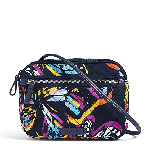 Vera Bradley Iconic RFID Little Crossbody, Signature Cotton, Butterfly Flutter ()