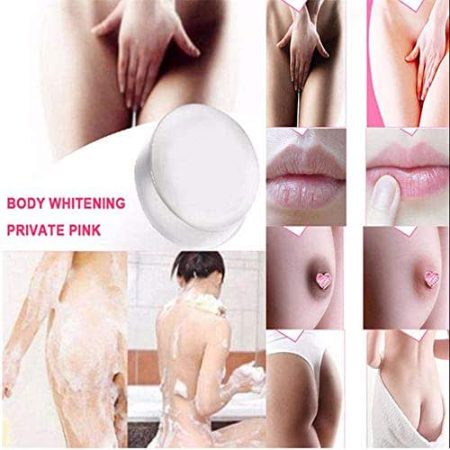 Tpingfe Whitening Soap,Crystal Soap Nipples Intimate Bleaching Skin Pink Enzyme Natural Handmade Soap Whitening Skin Cream for Private Body