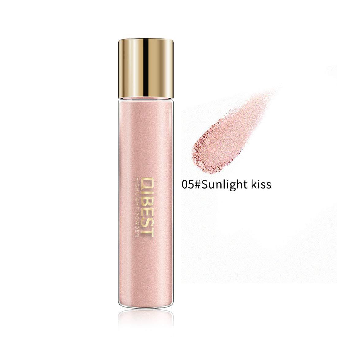 Msliy Highlighter Powder Waterproof High-Light Iluminador Brighten Face Eyes Glow Powder Eye Shadow Grooming Face Cosmetics