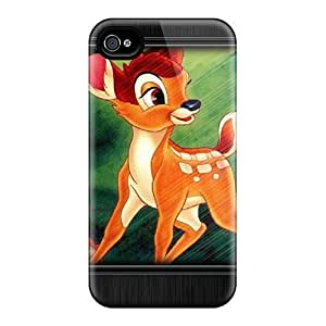 For Iphone 4/4s Premium Tpu Case Cover Bambi Protective Case