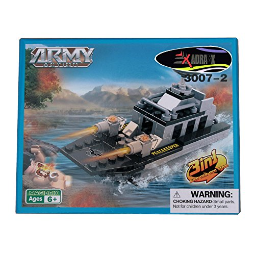 AdraXx DIY Hobby 3D Fighter Warship Model Assembling Kit  Multicolor