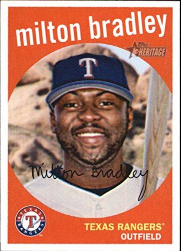 2008 Topps Heritage Baseball #205 Milton Bradley Texas Rangers
