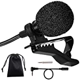 Lavalier Microphone,PEYOU Mini Hands Free Lavalier Clip-On Omnidirectional Microphone For iPhone X 8 Plus/8 7 Plus/7/SE 6S/6S Plus, For Samsung Galaxy S9/S9 Plus/S8/S8 Plus/S7/ S7 Edge, Smartphones and Tablets, Notebook, Youtube, Interviews With Good Sound Quality