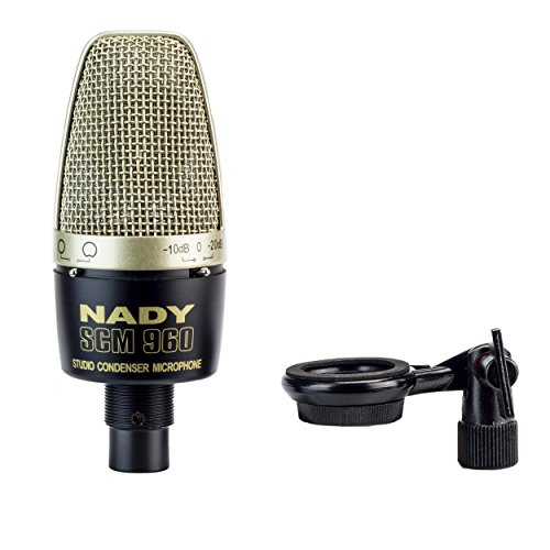 - Nady SCM-960 Studio Condenser Microphone with selectable attenuation pad and selectable pickup pattern