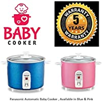 Panasonic SR-3NA Automatic Baby Travel Cooker, 300ml (Pink/Blue)