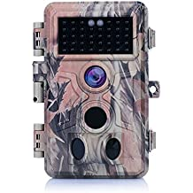 "[2018 New]Trail Camera 16MP Photo, Full HD 1080P Video, 2.4"" LCD Color Screen, Game&Hunting Camera, 38 PCS No Glow IR LEDs Night Vision, 0.2s Trigger Time, IP66 Waterproof Protected"