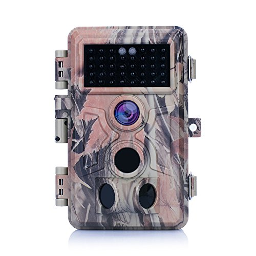 Zopu Trail Camera 16MP 1080P No Glow Night Vision Wildlife Hunting Game Camera with 2.4' LCD 120° PIR Sensors 0.2s Trigger Time Motion Activated IP66 Waterproof Protected